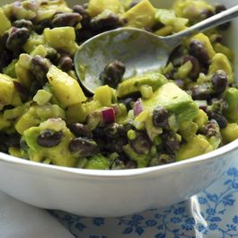 Black Bean, Avocado and Pineapple salsa