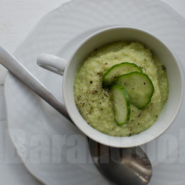 Cucumber avocado gazpacho