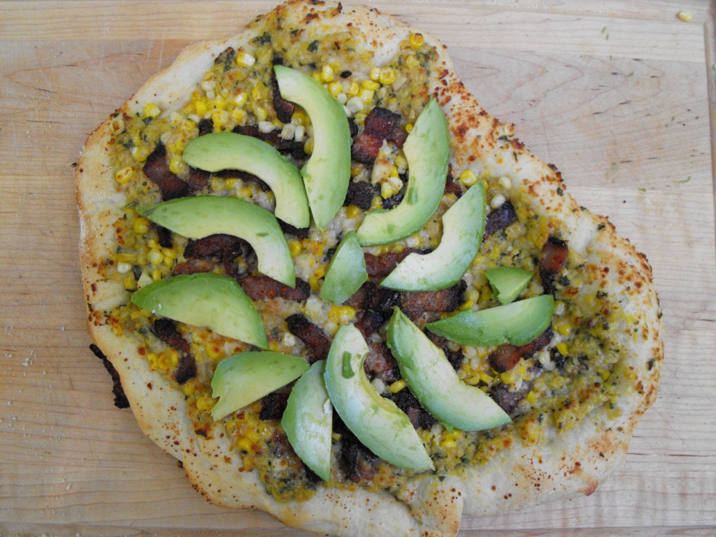 Corn Avo Pizza