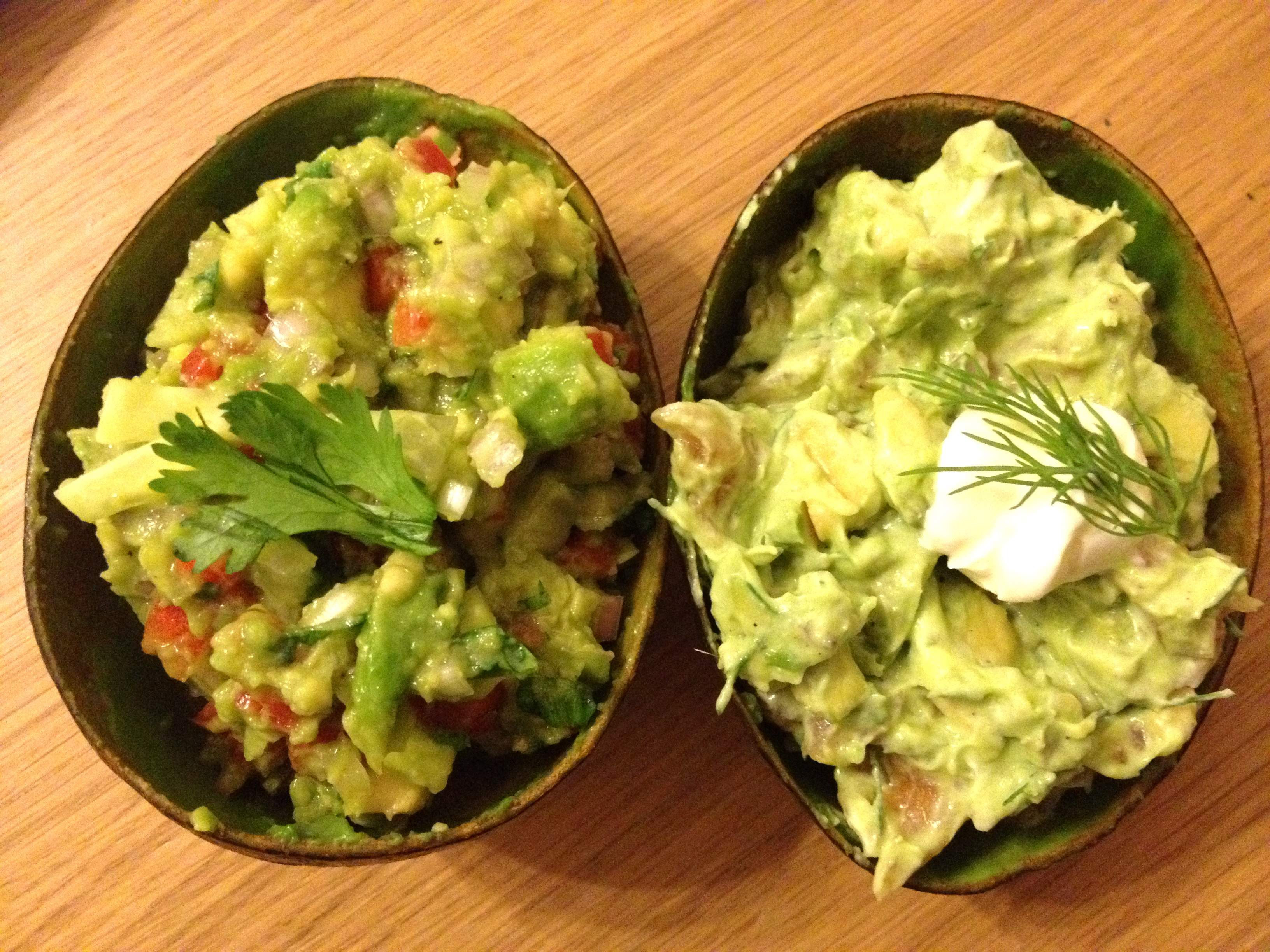 Avocado Boats with Crab and Smoked Salmon
