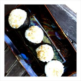 Avocado Onigiri with Ginger Kewpie Mayo