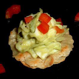 Avocado Slaw Canapes