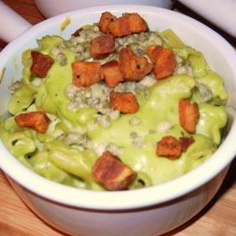 Avocado Mac n Bleu Cheese with Pancetta