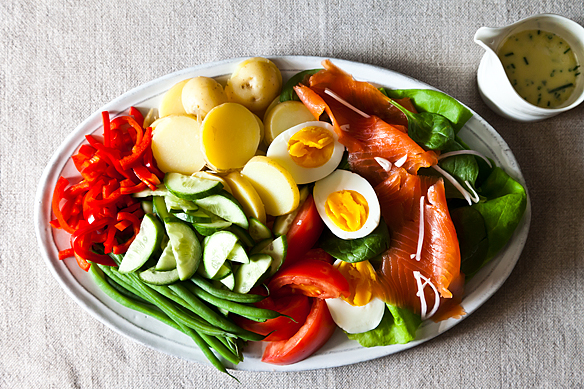 Not-Quite Nicoise with Lime-Chive Cream
