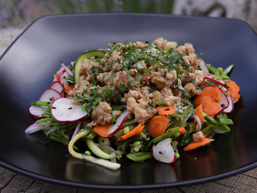Hot Sour Salty Sweet Minted Pork Salad