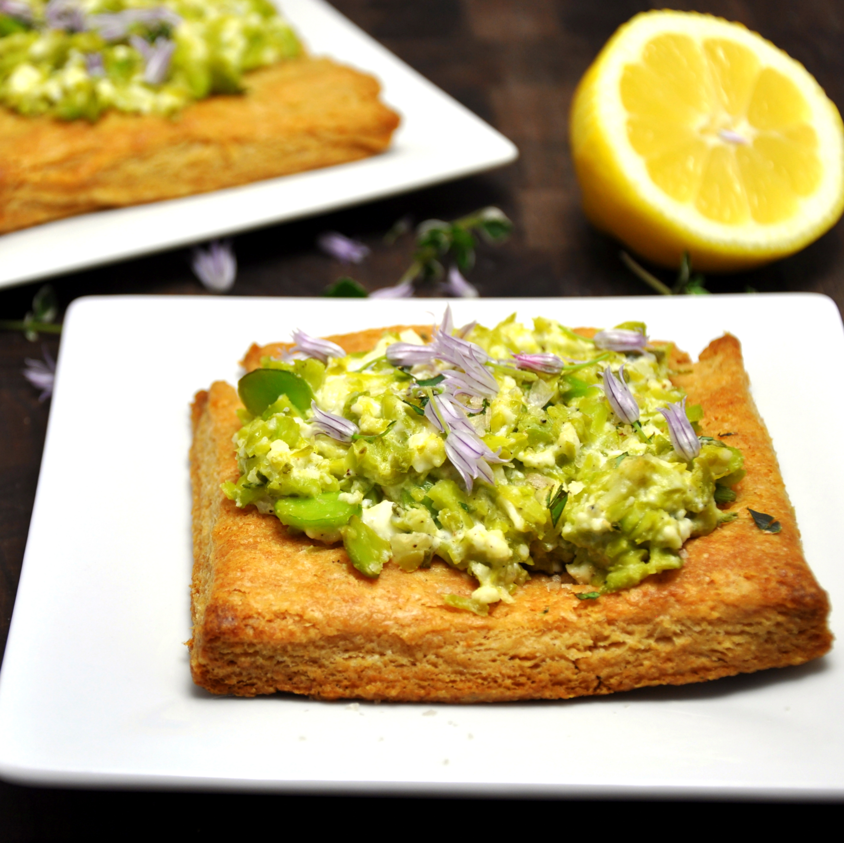 Fava, Feta, and Mint Tart with Lemon