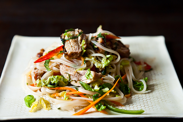 Spicy Grilled Chicken Salad with Noodles by merrill