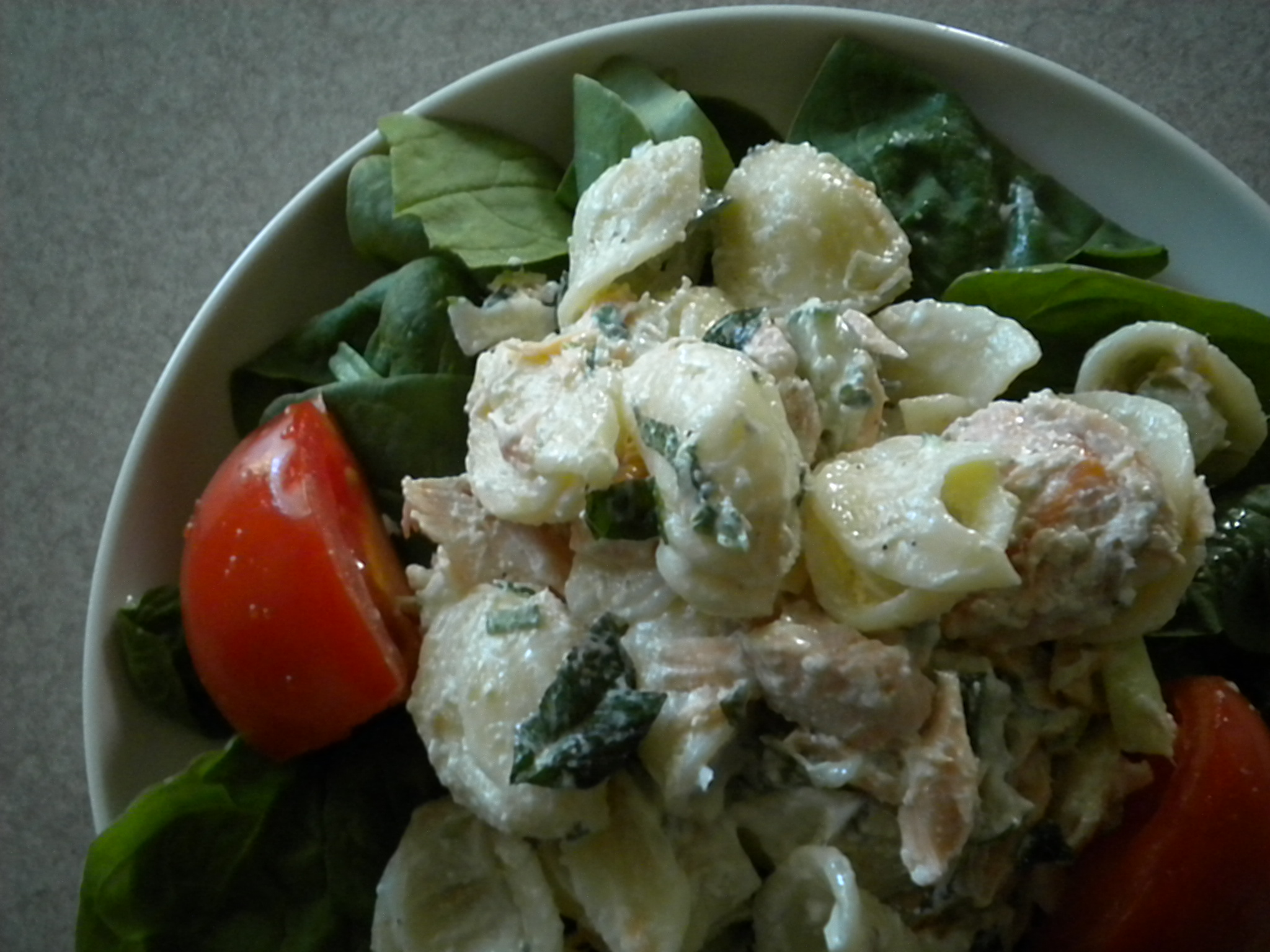 Creamy Minted Salmon Pasta Salad
