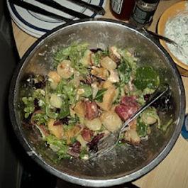 Three beet salad with goat's cheese and meyer lemon vinaigrette