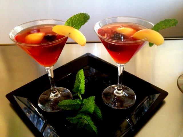 Minty Apricot Brandy Sour