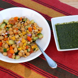 Chaat_with_mint_chutney