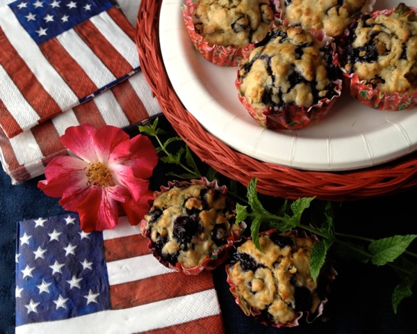 Healthy MINT Blueberry Oatmeal Muffins