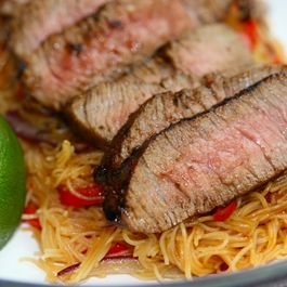 Thai Beef on Chilli and Ginger Noodles