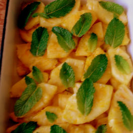 Honey-Lime Marinated Pineapple and Cheese Tarts