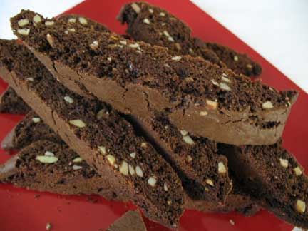 Double-Chocolate Biscotti with Cherries and Almonds