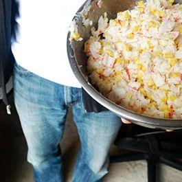 Crab and Corn Rice Salad