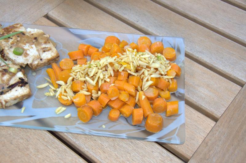 Orange lassi-inspired carrots