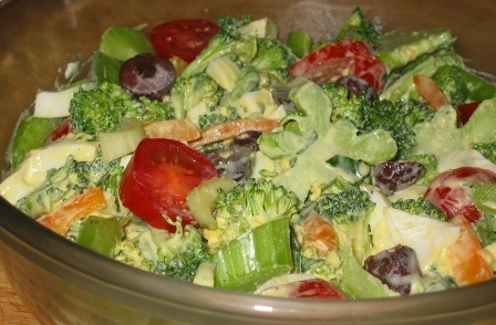 Broccoli Salad & Egg Persillade Dressing