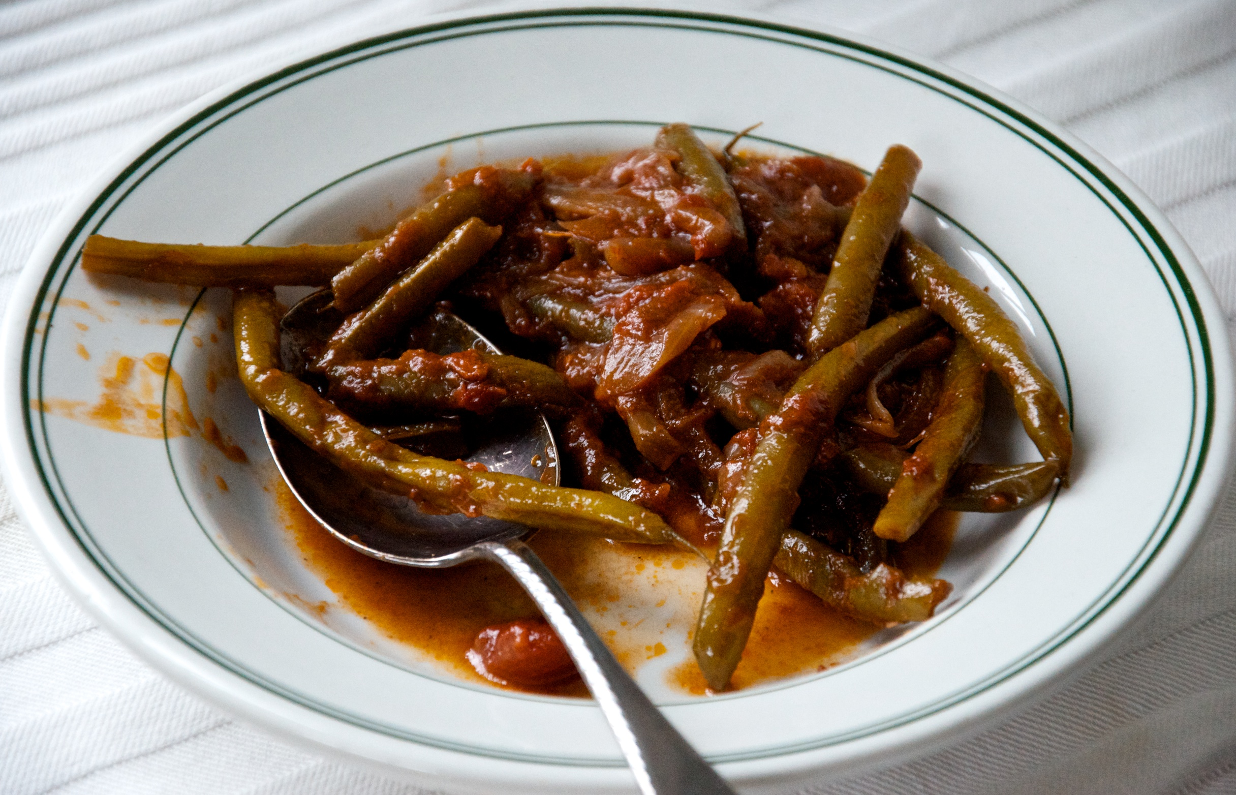 Middle-Eastern Slow Cooked Green Beans