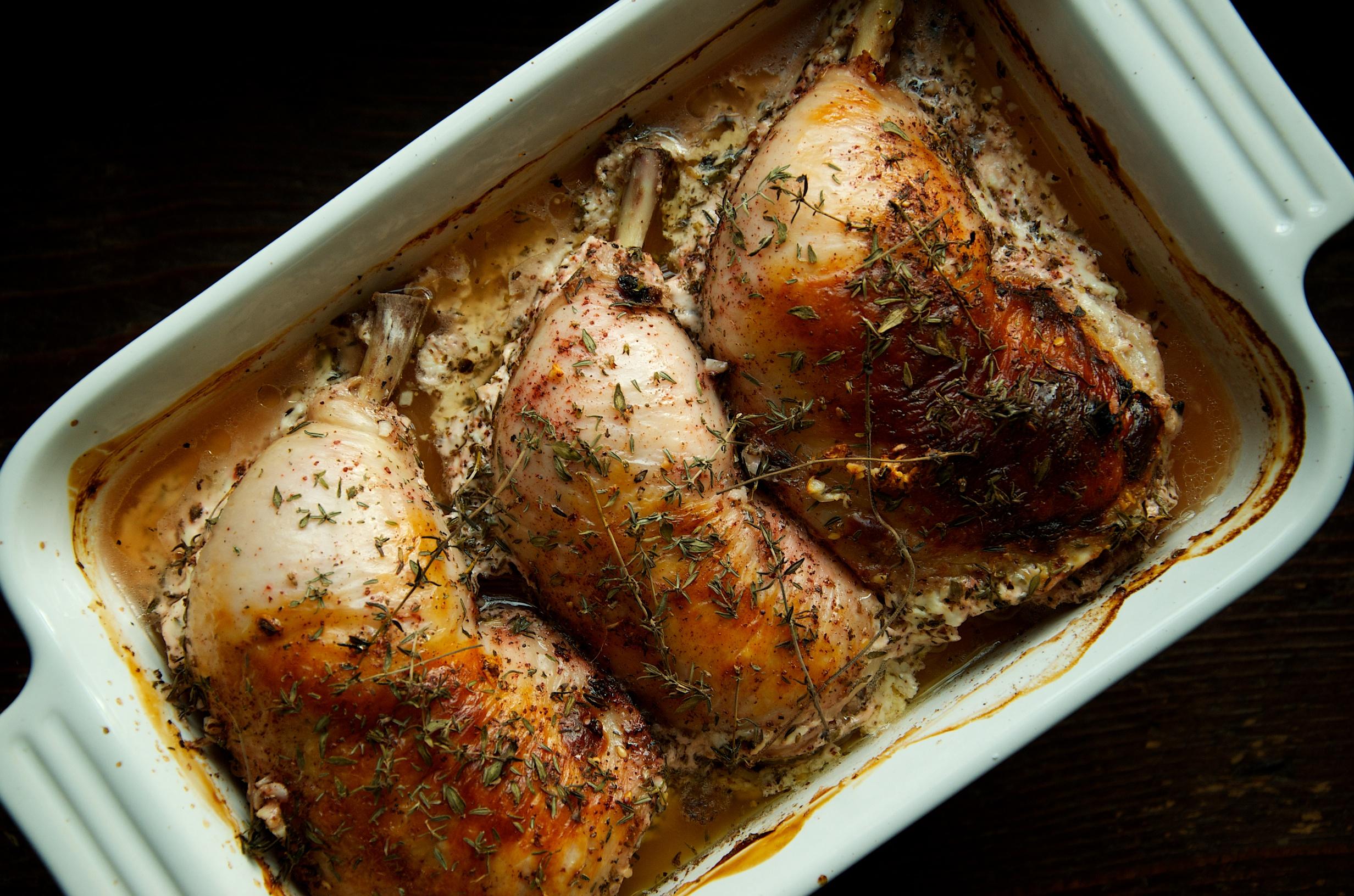 Oven Braised Buttermilk Chicken with Za'atar