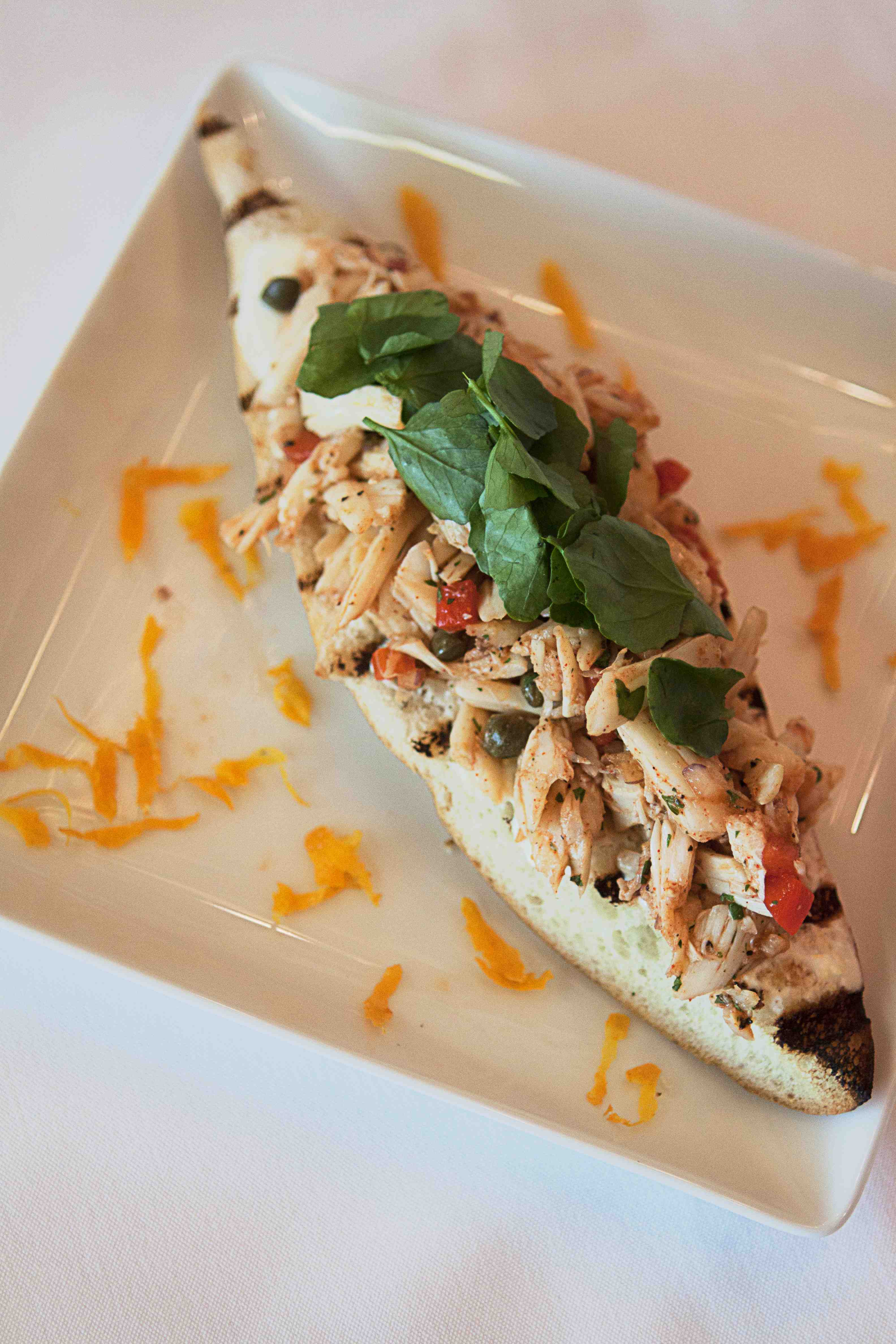 Brazilian Open-Face Crab Sandwich