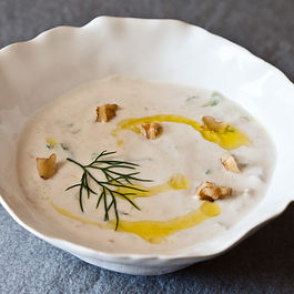 Yogurt Soup with Cucumbers and Walnuts (Tarator)