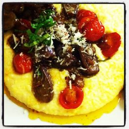 Fairy Tale Eggplant Saute with Polenta