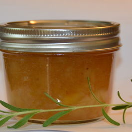 White Peach and Rosemary Jam