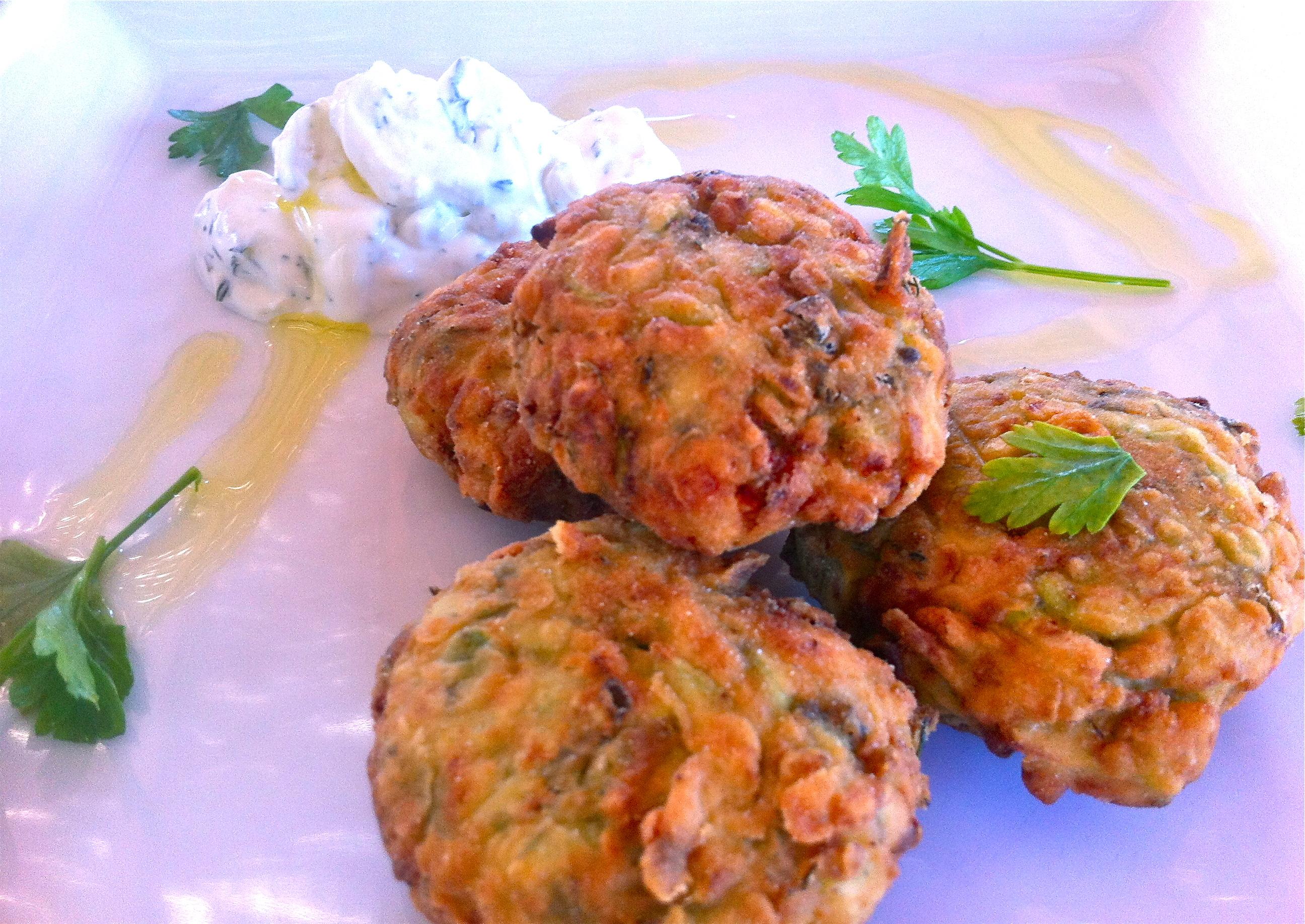 Chickpea & Shrimp fried patties
