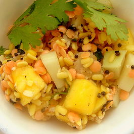 Summertime Lentil Salad With Mango