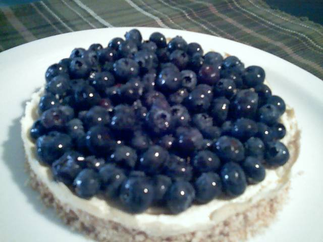 Blueberry Tofu Cheesecake