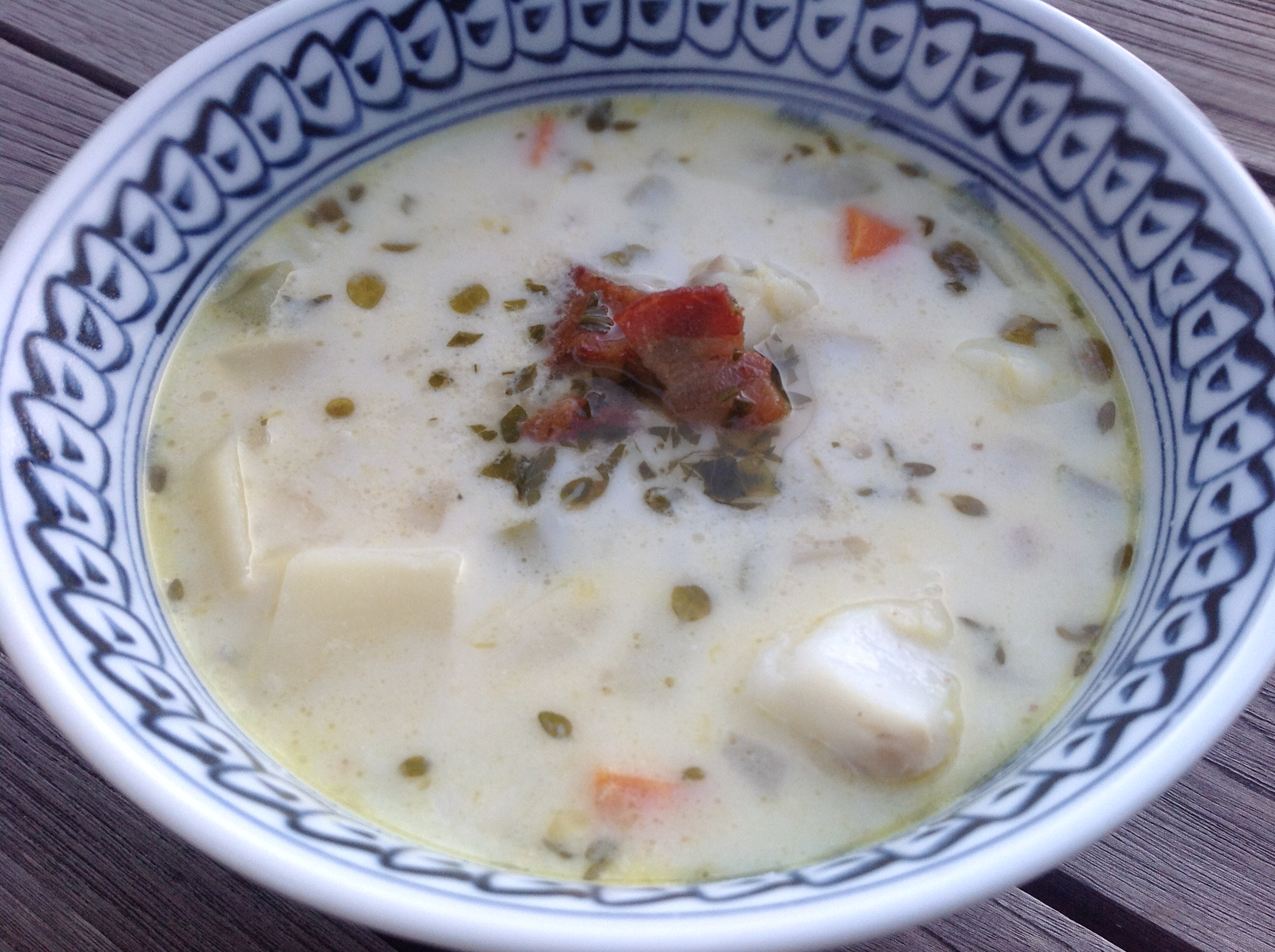 Summer Corn and Fish Chowder