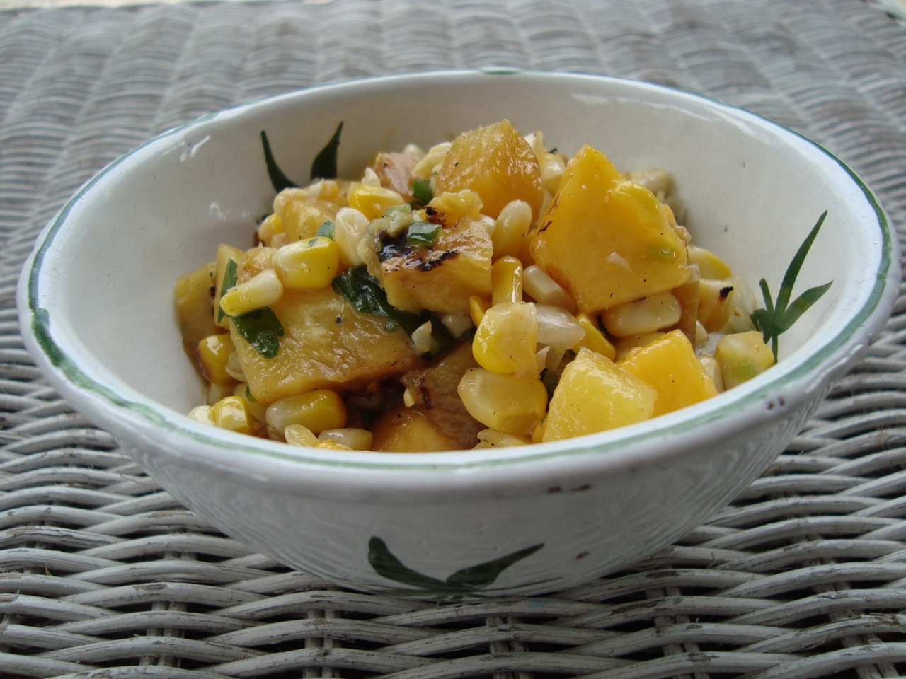 Next Day Grilled Corn, Pineapple, and Peach Salsa