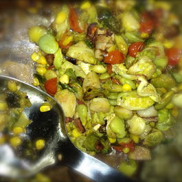 Brussels Sprout Succotash