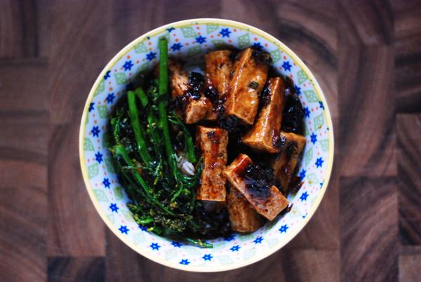 Hoisin-Lacquered Tofu with Broccoli
