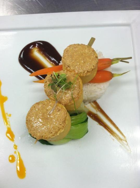Miso Crusted Tofu Skewers