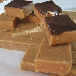 Nutty Peanut Butter Fudge Squares