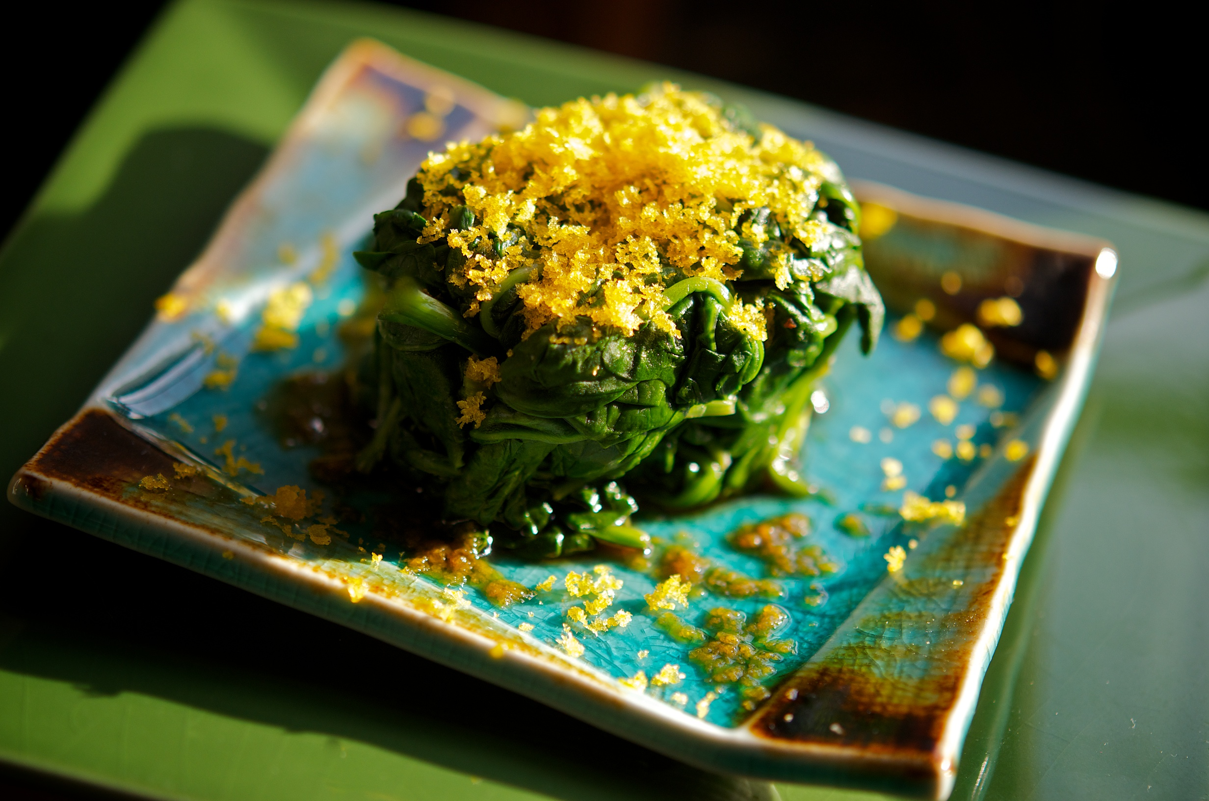 Wilted Spinach with Bottarga