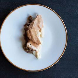 Cinnamon and beer braised pork with caraway porridge
