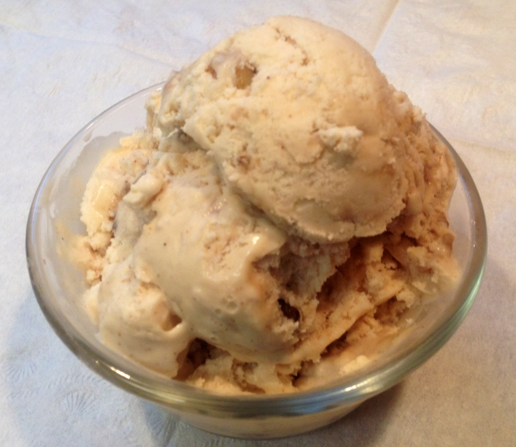 Apple Cider Ice Cream with Walnut Pralines