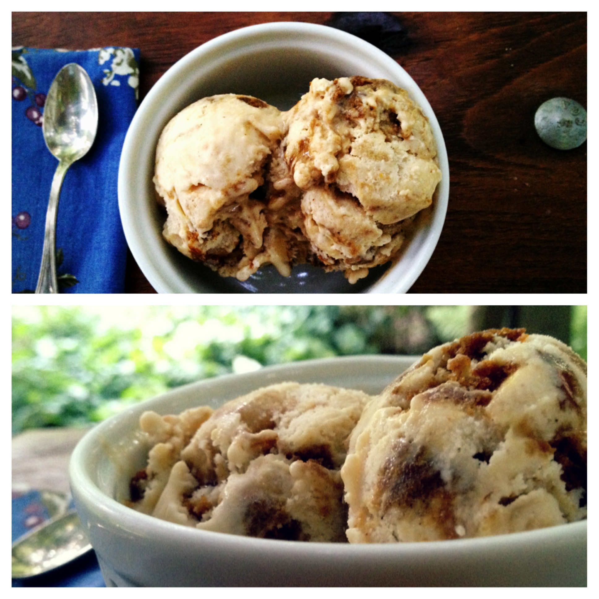 Caramelized Apple Molasses Cookie Ice Cream