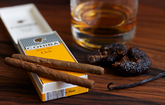 Bourbon and cigar ice cream