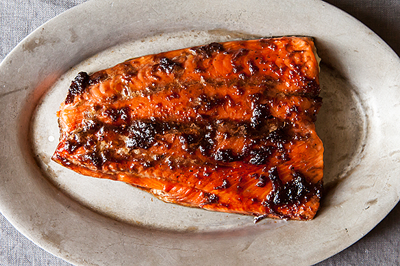 Ginger soy glazed salmon from Food52