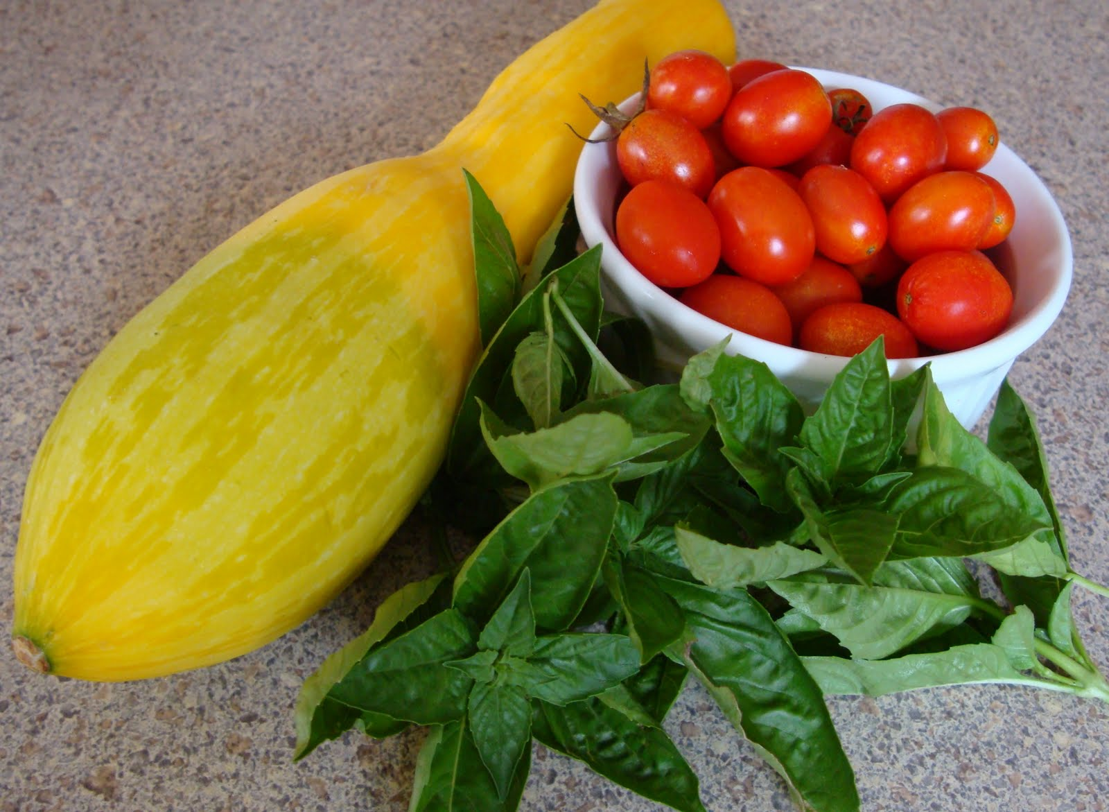 Summer Squash, Tomato, and Basil Pasta