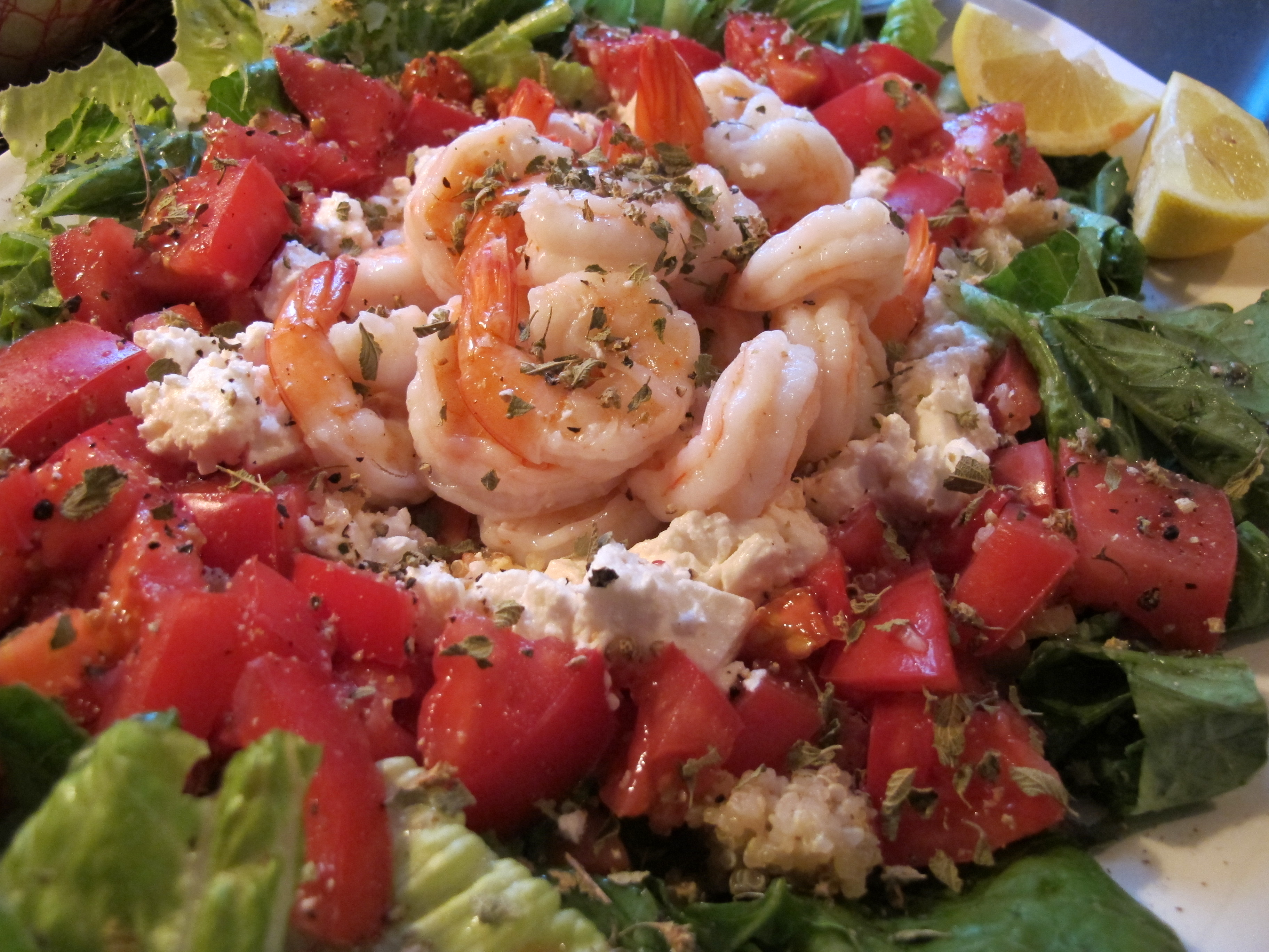 Shrimp-Quinoa Salad with Feta and Tomatoes