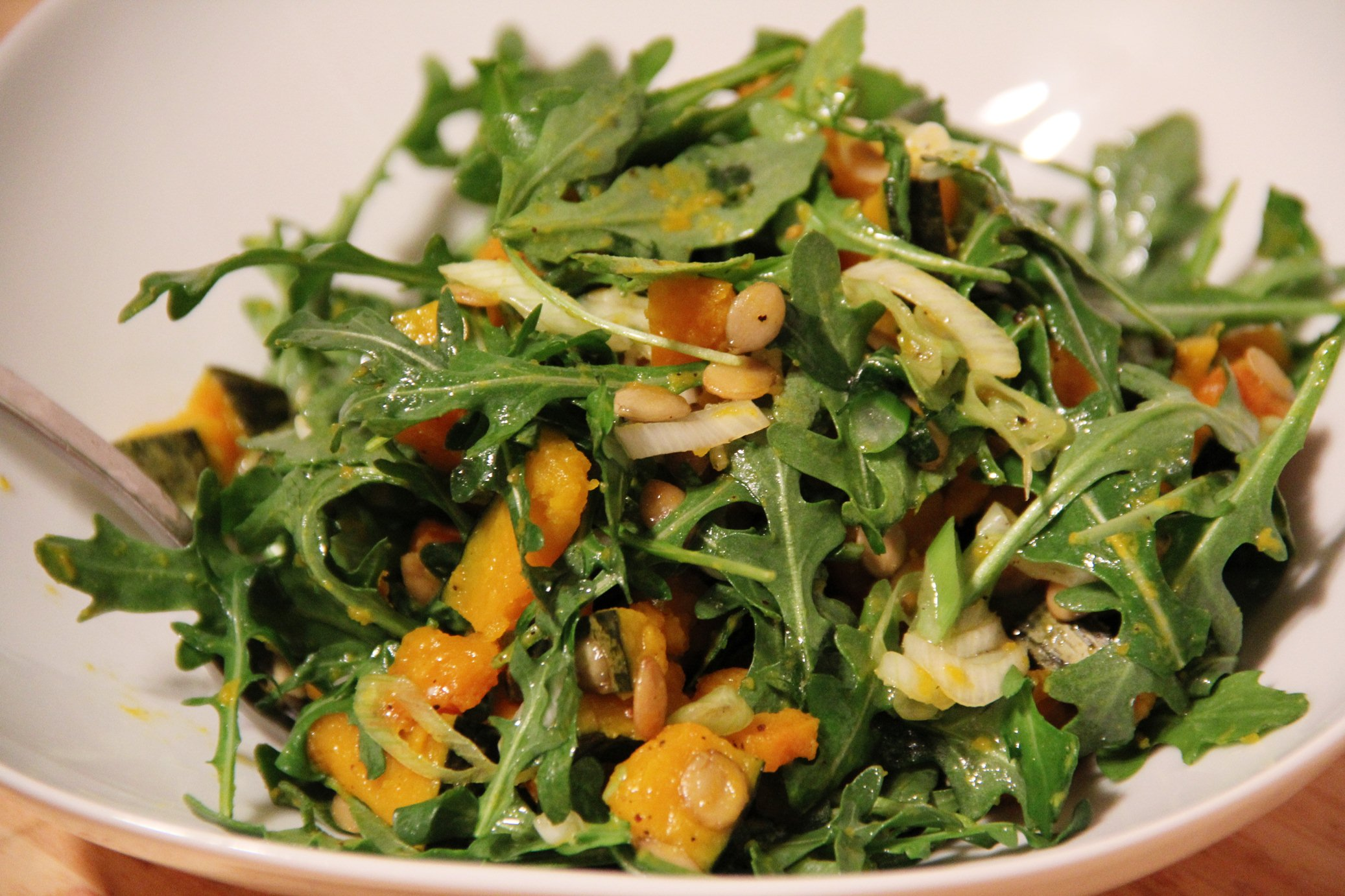 Kabocha Squash and Arugula Salad