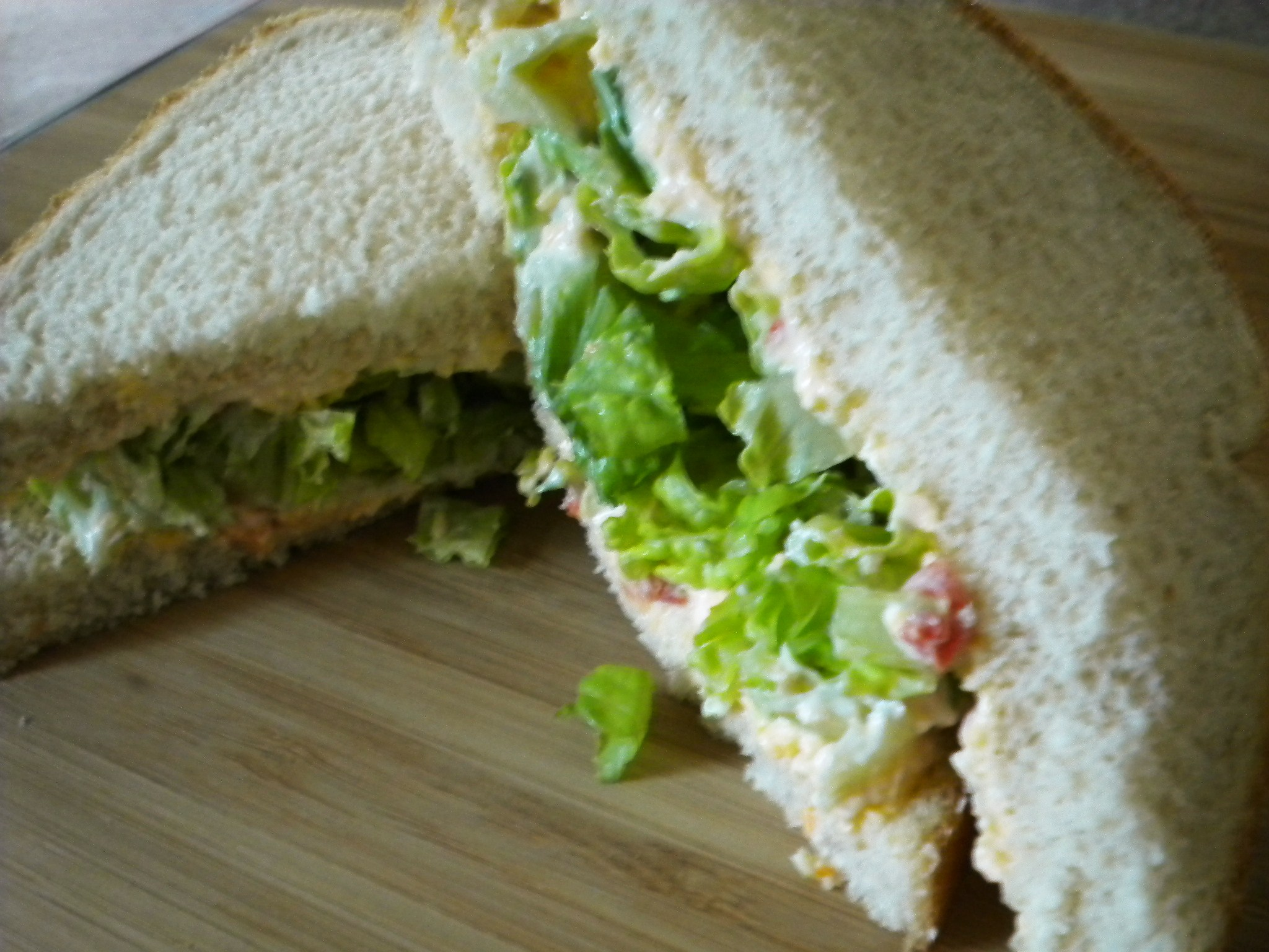 A Dressed Up Lettuce Sandwich