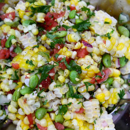 Fresh Corn and Watermelon Salad