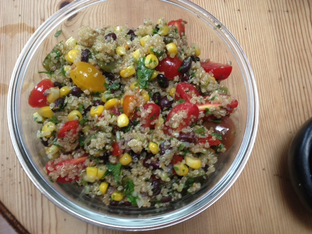 Beanoa (aka Quinoa Salad with Black Beans, Tomatoes, Corn, and Rajas ...