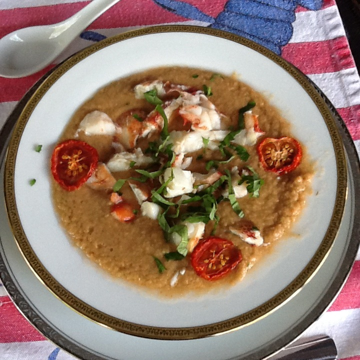 Cold Lobster Gazpacho with Sun Dried Tomatoes and Basil